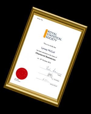 Lynsey CStat Certificate