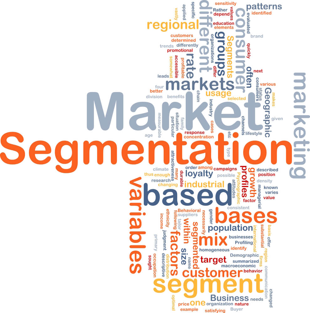 the basis of market segmentation Definition of market segmentation: the process of defining and subdividing a large homogenous market into clearly identifiable segments having similar needs, wants, or demand characteristics.